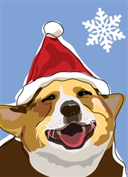 Corgi Holiday Card