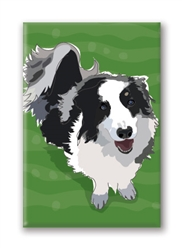 Border Collie Dog Fridge Magnet