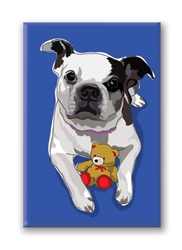 Boston Terrier Dog Fridge Magnet
