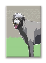 Irish Wolfhound Fridge Magnet