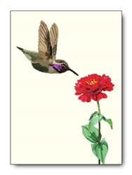 Hummingbird Dahlia Card