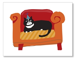 Cat on Couch Cards
