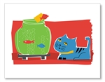Cat & Fish Bowl Card