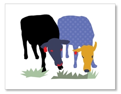 Two Cows Card