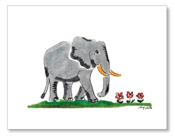 Elephant Walking Card