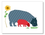 Two Hippos Card