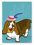 Basset Hound Greeting Card: (Blank Inside) (1 card)