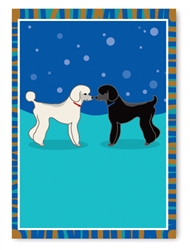 Poodles Greeting Card