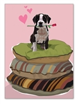 Pitbull Terrier Friendship Card