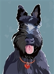 Scottish Terrier Blank Inside Card