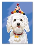 White Dog Birthday Card