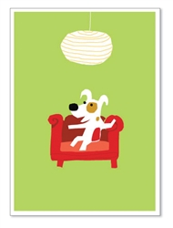 "Rocket on Chair: ""Have a rocking BIRTHDAY!"" (inside)(1 card)"