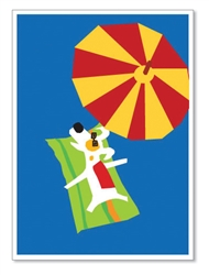"Rocket under Umbrella: ""Happy Birthday to the best friend under the sun!"" (inside)(1 card)"