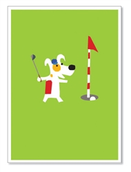 "Rocket golfing: ""Happy Birthday, HOT Shot"" (inside)(1 card)"