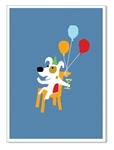 "Rocket Cheers: ""Cheers to another fantastic year.  Happy Birthday!"" (inside)(1 card)"