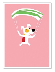 "Rocket Parachuting: ""Dropping in to wish you a Happy Birthday!""(inside)(1 card)"