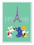 Paris, Eiffel Tower: Blank Inside (1 card)