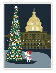 DC, Capitol Hill & Holiday: Blank Inside (1 card)
