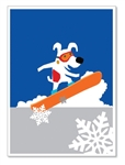 Rocket Snowboarding Up: Blank Inside (1 card)