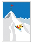 Rocket Snowboarding Down: Blank Inside (1 card)