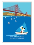 SF, Sailing under GGB: Blank Inside (1 card)