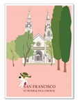 SF, North Beach Church: Blank Inside (1 card)