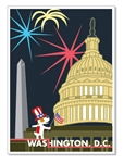 DC, 4th of July at Capitol Hill: Blank Inside (1 card)