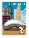 Chicago, Millennium Park & the Bean: Blank Inside (1 card)