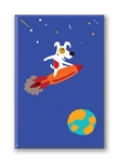 Rocket on Rocket: Fridge Magnet (1 QT)