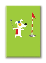 Rocket Golfing: Fridge Magnet (1 QT)