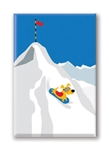 Rocket Sleding, Fridge Magnet (1 QT)