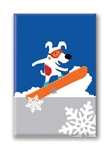 Rocket Snowboarding, Fridge Magnet (1 QT)