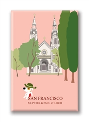 SF, St. Peter & Paul Church: Fridge Magnet (NEW) (1 QT)