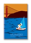 SF, GGB Sunset: Fridge Magnet (NEW) (1 QT)