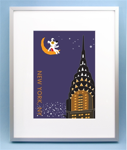 Rocket on top of Chrysler Building Art Picture, New York City ...