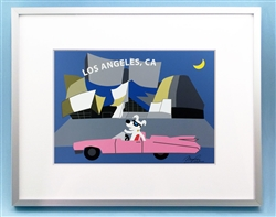 Rocket in front of Disney Hall, Disney Hall Art, Disney Hall Art Picture, Los Angeles Art