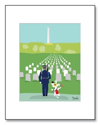 Arlington National Cemetery Art, Arlington National Cemetery Illustration, Arlington National Cemetery Illustrations, Veteran Gifts, Veteran Dog Lovers, Arlington National Cemetery Soldier,