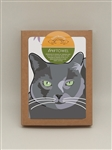 Cat, Russian Blue TeaTowel