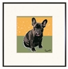 French Bulldog, BLK Framed Print