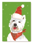 "West Highland Terrier Holiday Card: ""Put your holiday face on! Season's Greetings."" (inside) (1 card)"