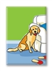 Labrador, with Slippers Fridge Magnet