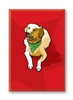 Golden Retriever with Bandana Fridge Magnet
