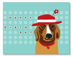 Basset Birthday Card