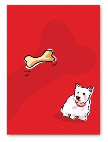 West Highland Terrier Birthday Card