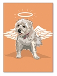 Cairn Terrier Angel Wing Birthday Card