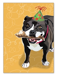Pitbull Birthday Card