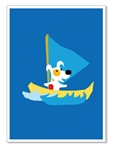 "Greeting Card: ""Wishing you another year of fantastic sailing...Happy Birthday!""(inside)(1 card)"