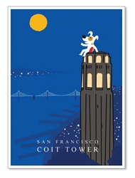 SF, Coit Tower: Blank Inside (1 card)