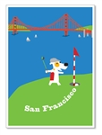SF, Golfing at Lincoln Park: Blank Inside (1 card)