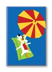 Rocket Sunbathing: Fridge Magnet (1 QT)